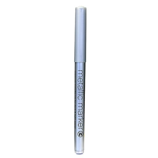 American Crafts Metallic Markers, Silver, Medium, 12/Pack (65372-PK12)