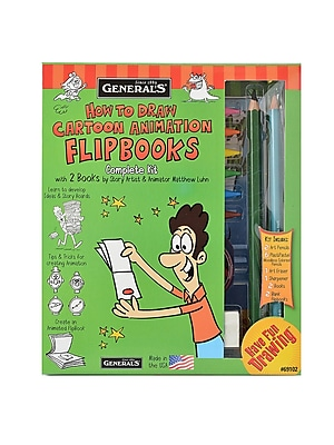 General's How to Draw Cartoon Animation Flip Books Kit each [Pack of 2] 1717973