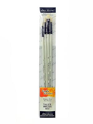 Robert Simmons Simply Simmons Long Handle Brush Sets bristle set of 4