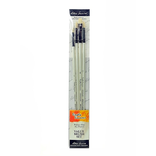 Robert Simmons Simply Simmons Long Handle Brush Sets bristle set of 4