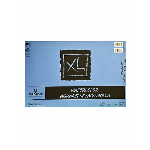 Canson XL Watercolor Pads 12 in. x 18 in. pad of 30 [Pack of 2]