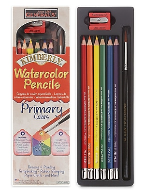 General's Kimberly Watercolor Pencils - Primary Colors Set Each [Pack Of 3]