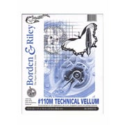 "Borden and Riley #110M Technical Vellum, 11"" x 14"" Pad, 2/Pack (62570-PK2)"