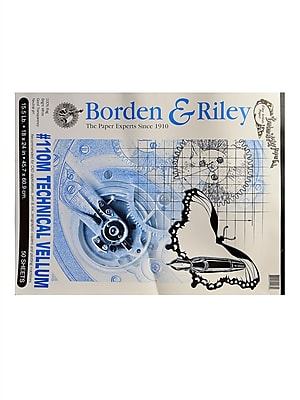 Borden and Riley #110M Technical Vellum 18 in. x 24 in. pad