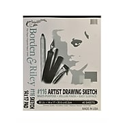 Borden And Riley #116 Artist Drawing/Sketch Vellum Pads 14 In. X 17 In. 40 Sheets Cloth Bound [2Pk]