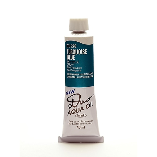 Holbein Duo Aqua Artist Oil Color turquoise blue 40 ml