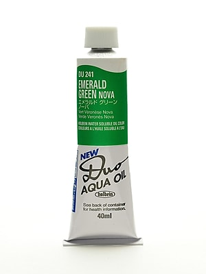 Holbein Duo Aqua Artist Oil Color emerald green nova 40 ml