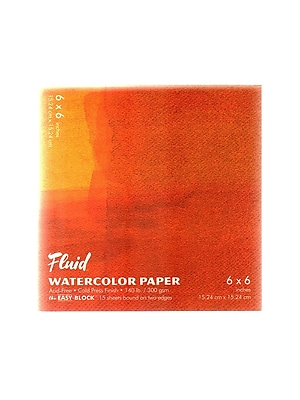 Global Art Fluid Cold Press Watercolor Paper, 6