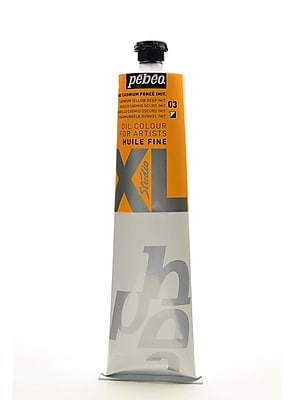 Pebeo Studio XL Oil Paint cadmium yellow deep hue 200 ml [Pack of 2]