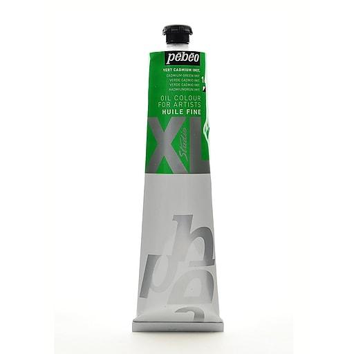 Pebeo Studio XL Oil Paint cadmium green hue 200 ml [Pack of 2]