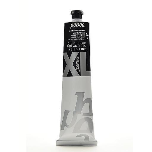 Pebeo Studio XL Oil Paint ivory black hue 200 ml [Pack of 2]