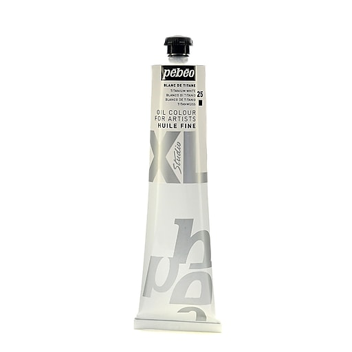 Pebeo Studio XL Oil Paint titanium white 200 ml [Pack of 2]