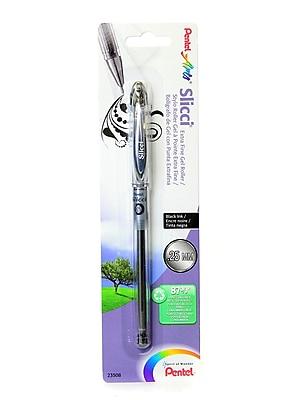 Pentel Slicci Extra Fine Gel Pens black each [Pack of 12]
