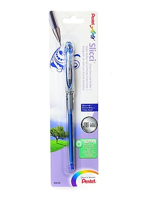 Pentel Slicci Extra Fine Gel Pens blue each [Pack of 12]