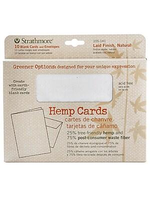 Strathmore Greener Options Cards, Laid Finish, Natural, Hemp (57409)
