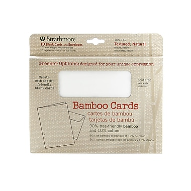 Strathmore Greener Options Cards textured natural bamboo