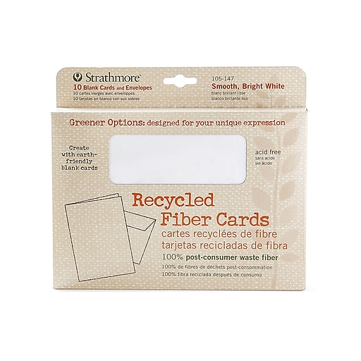 Strathmore Greener Options Cards smooth bright white recycled fiber