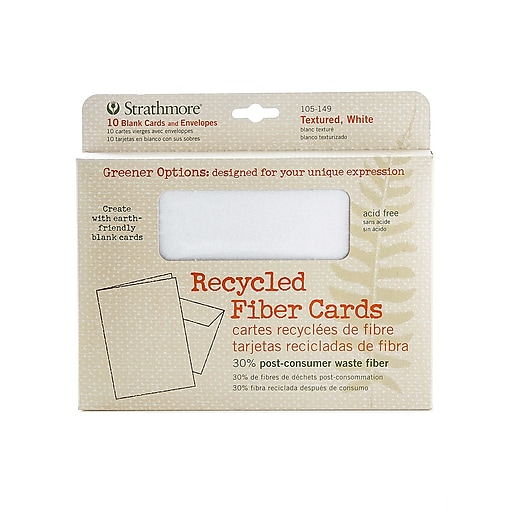 Strathmore Greener Options Cards textured white recycled fiber