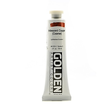 Golden Iridescent and Interference Acrylics, Iridescent Copper Coarse, 2oz (28561)