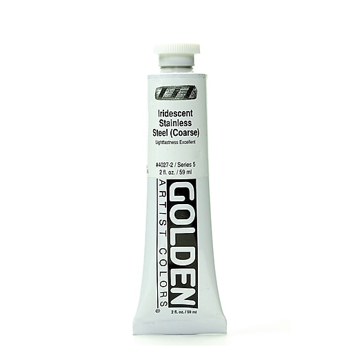 Golden Iridescent and Interference Acrylics iridescent stainless steel coarse 2 oz.