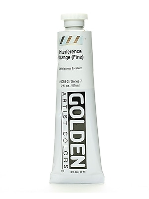 Golden Iridescent and Interference Acrylics interference orange fine 2 oz.