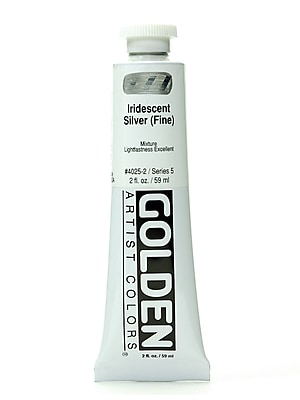 Golden Iridescent and Interference Acrylics iridescent silver fine 2 oz.