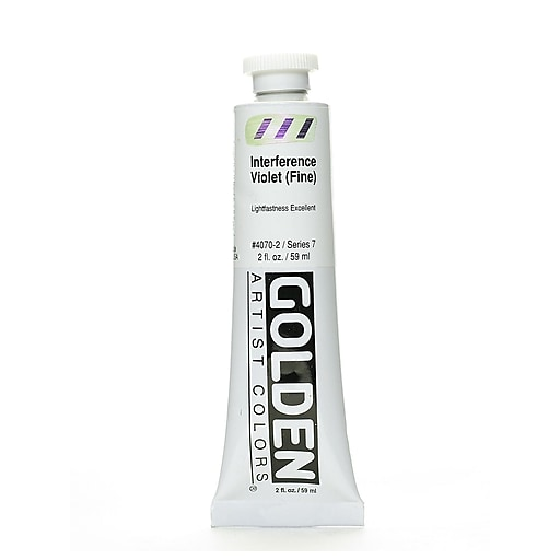Golden Iridescent and Interference Acrylics interference Violet Fine 2 oz. (67855)