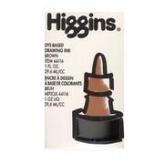 Higgins Dye-Based Drawing Ink, Brown / Non-Waterproof 1 oz. [Pack of 4]