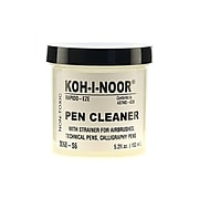 Koh-I-Noor Rapido-Eze Pen Cleaner, 5.2 oz. Jar with Strainer [Pack of 3]