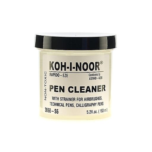 Koh-I-Noor Rapido-Eze Pen Cleaner, 5.2 oz. Jar with Strainer [Pack of 3]