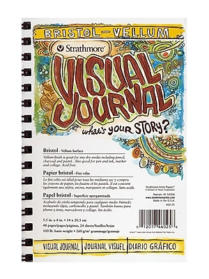 Strathmore Visual Bristol Journals 5 1/2 in. x 8 in. vellum 24 sheets [Pack of 3]