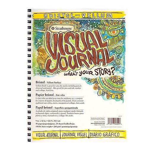 Strathmore Visual Bristol Journals 9 in. x 12 in. vellum 24 sheets [Pack of 2]