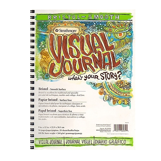 Strathmore Visual Bristol Journals 9 in. x 12 in. smooth 28 sheets [Pack of 2]