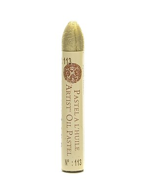 Sennelier Iridescent Oil Pastels, Rich Pale Gold no 113, 4/Pack (69386-PK4)