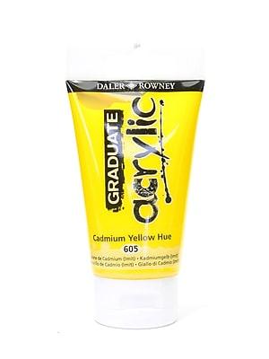 Daler-Rowney Graduate Acrylic Paint cadmium yellow hue 75 ml [Pack of 4]