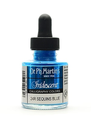 Dr. Ph. Martin's Iridescent Calligraphy Colors, 1oz, Sequins Blue, 2/Pack (70022-PK2)