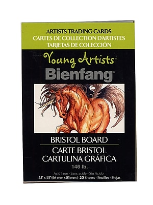 Bienfang Young Artists Trading Cards bristol board pack of 20 [Pack of 12]