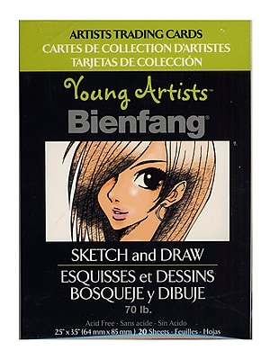 Bienfang Young Artists Trading Cards sketch pack of 20 [Pack of 12]