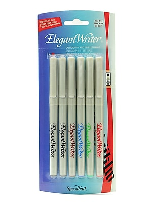 Speedball Elegant Writer Calligraphy Marker Set, Assorted, Broad Point, No. 2883, 2/Pack (43227-PK2)