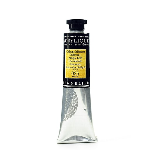 Sennelier Extra-Fine Artist Acryliques iridescent antique gold 025 60 ml [Pack of 2]