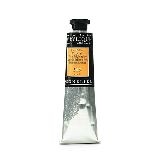 Sennelier Extra-Fine Artist Acryliques warm bright yellow 513 60 ml [Pack of 2]