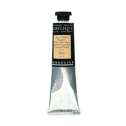 Sennelier Extra-Fine Artist Acryliques Naples yellow warm 563 60 ml [Pack of 2]