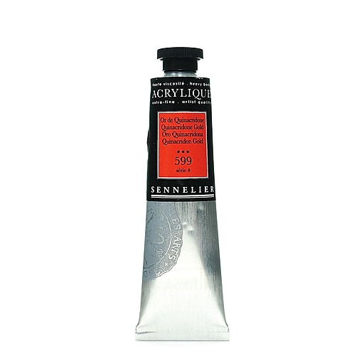 Sennelier Extra-Fine Artist Acryliques quinacridone gold 599 60 ml [Pack of 2]