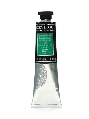 Sennelier Extra-Fine Artist Acryliques emerald green 837 60 ml [Pack of 2]