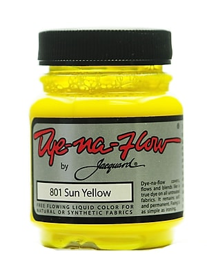 Jacquard Dye-Na-Flow Fabric Colors sun yellow 2 1/4 oz. 801 [Pack of 4]