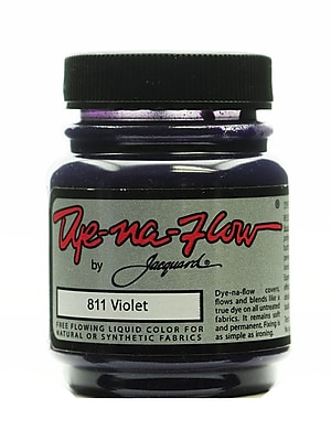 Jacquard Dye-Na-Flow 64258-PK4 Violet 811 Fabric Color, 2-1/4oz, 4/Pack