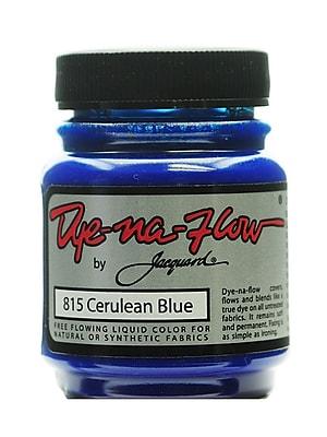 Jacquard Dye-Na-Flow Fabric Colors, Cerulean Blue 2 1/4oz no 815, 4/Pack (64263-PK4)