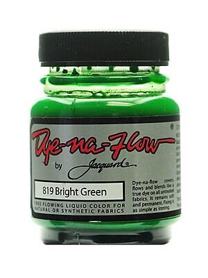 Jacquard Dye-Na-Flow Fabric Colors, Bright Green, 2 1/4oz, no 819, 4/Pack (64271-PK4)