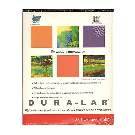 Grafix Dura-Lar Acetate Alternative Wet Media Pads 19 in. x 24 in. pad of 12