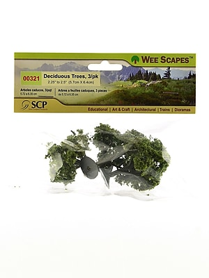 Wee Scapes 70408-Pk3 Architectural Model Trees, Deciduous, 2 1/4